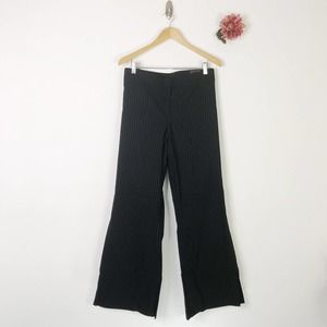LANE BRYANT Pinstripe Flare Dress Pants